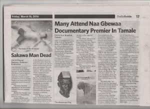 Many Attend Naa Gbewa Documentary Launch
